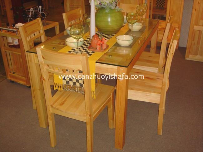 实木餐桌椅-T0613