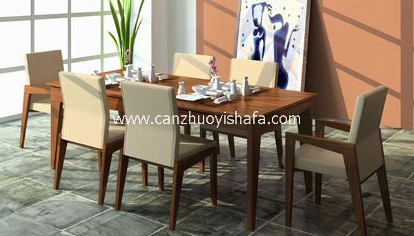 实木餐桌椅-T0617