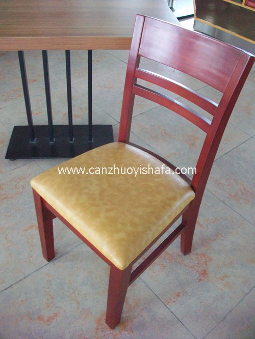 实木软包餐椅-Y1108