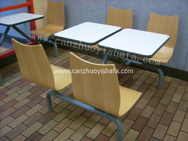 连体快餐桌椅-T0308