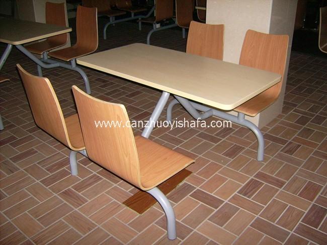 连体快餐桌椅-T0310