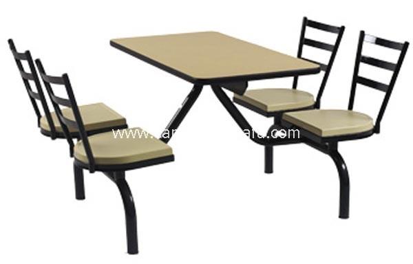 连体快餐桌椅-T0330