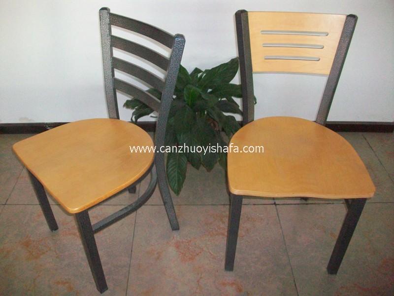 钢木餐椅-Y1219