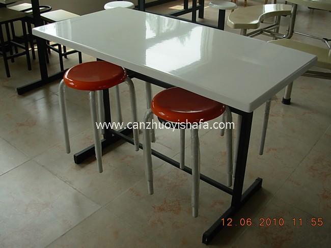 玻璃钢食堂餐桌椅-T0534