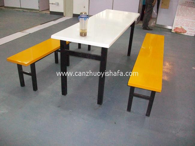 玻璃钢食堂餐桌椅-T0542