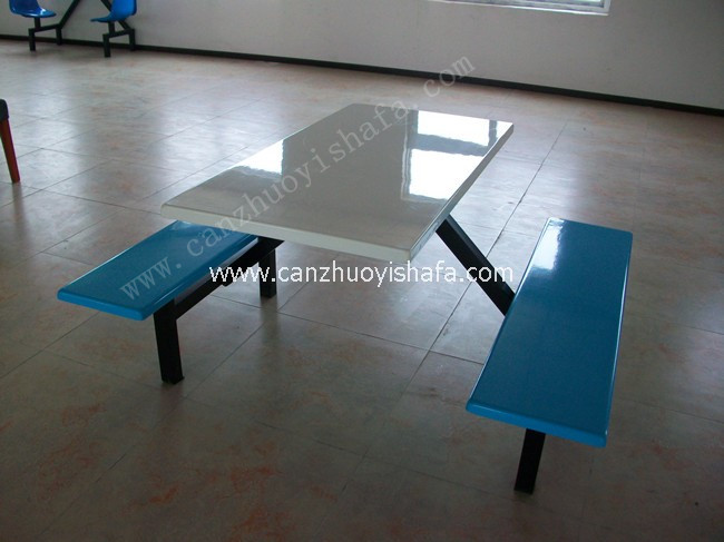 玻璃钢食堂餐桌椅-T0543