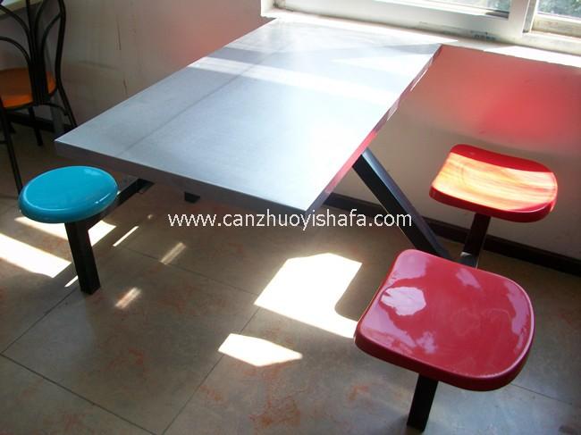 不锈钢食堂餐桌椅-T0548