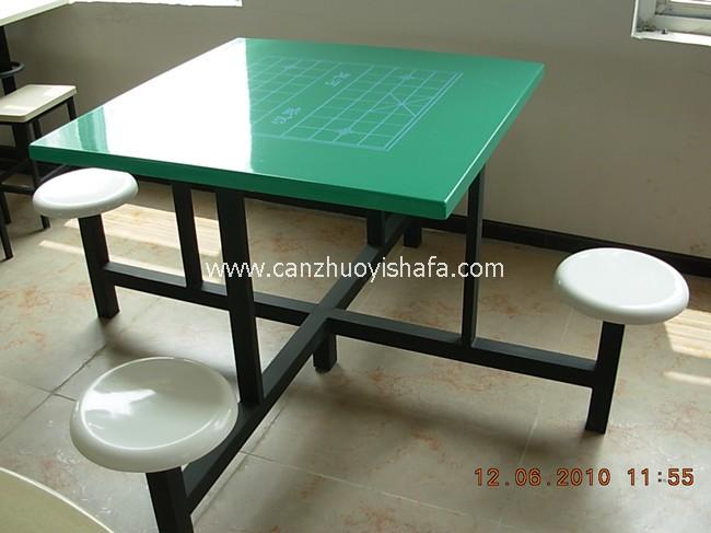 玻璃钢食堂餐桌椅-T0553