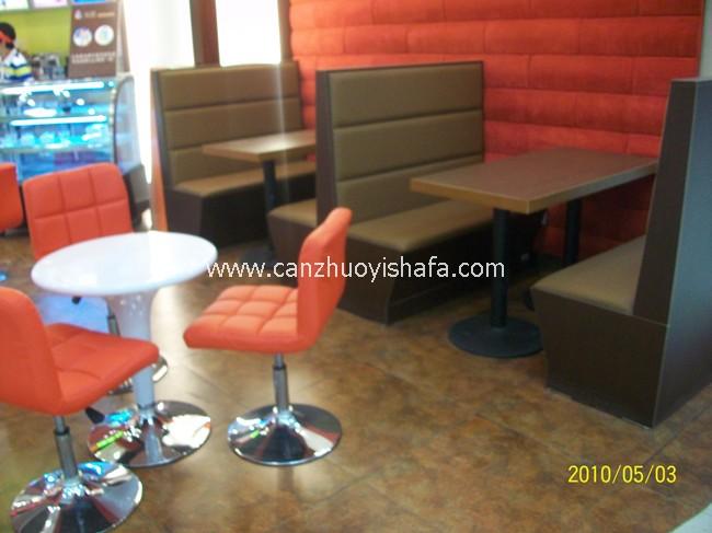 茶餐厅卡座沙发-K09026