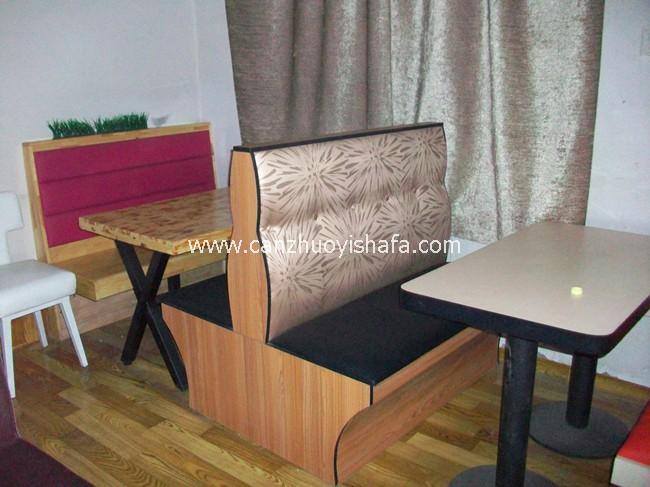茶餐厅卡座沙发-K09028
