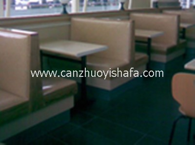 茶餐厅卡座沙发-K09032