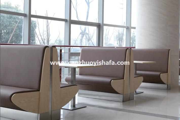 餐厅卡座沙发-K09038