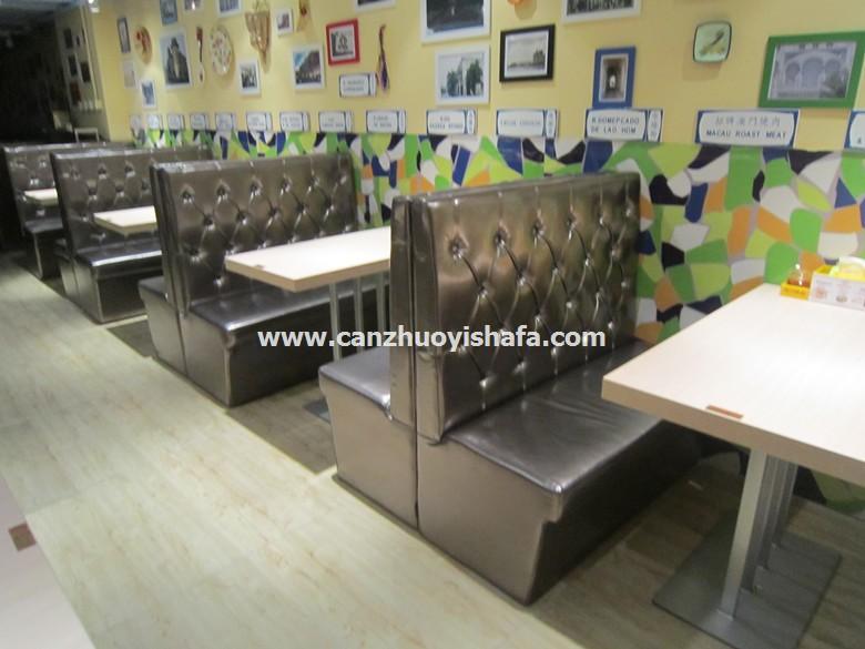 茶餐厅卡座沙发-K09039