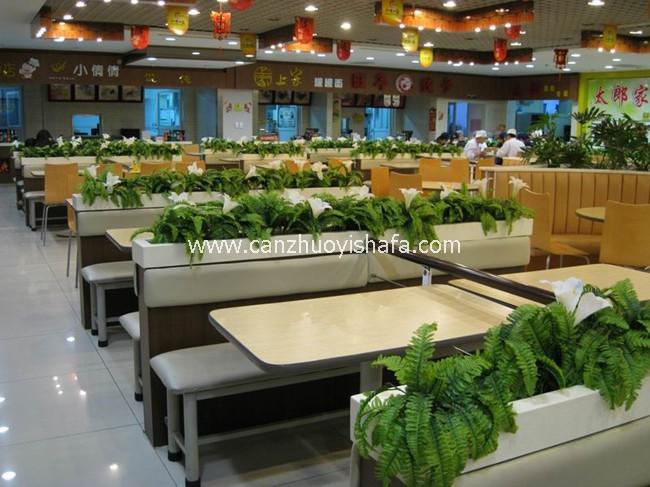 茶餐厅卡座沙发-K09044