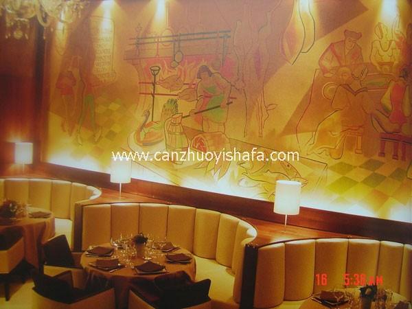餐厅卡座沙发-K09107