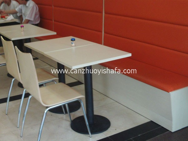 茶餐厅卡座沙发-K09109