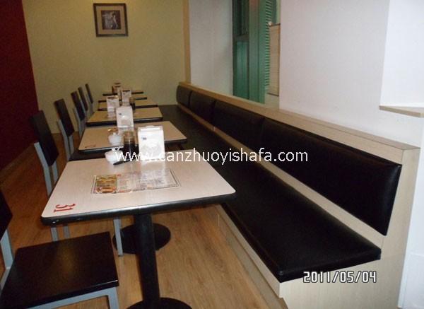 茶餐厅卡座沙发-K09112