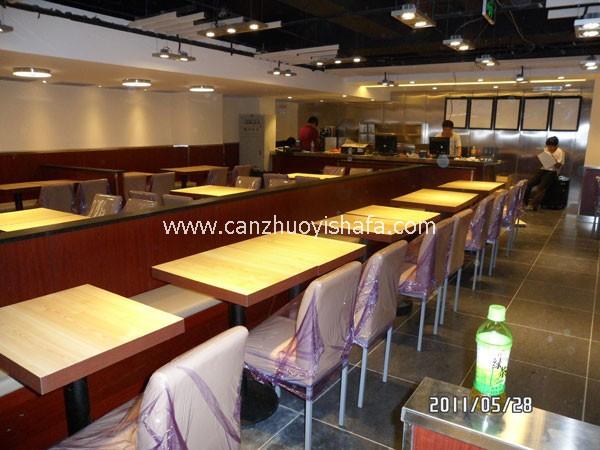 茶餐厅卡座沙发-K09113