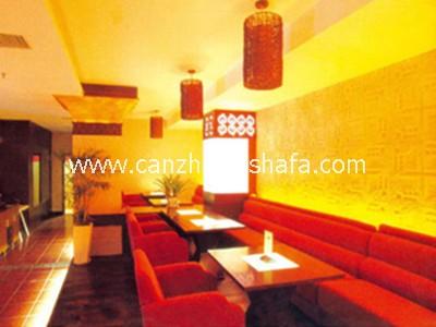 茶餐厅卡座沙发-K09114