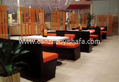 餐厅卡座沙发-K09119