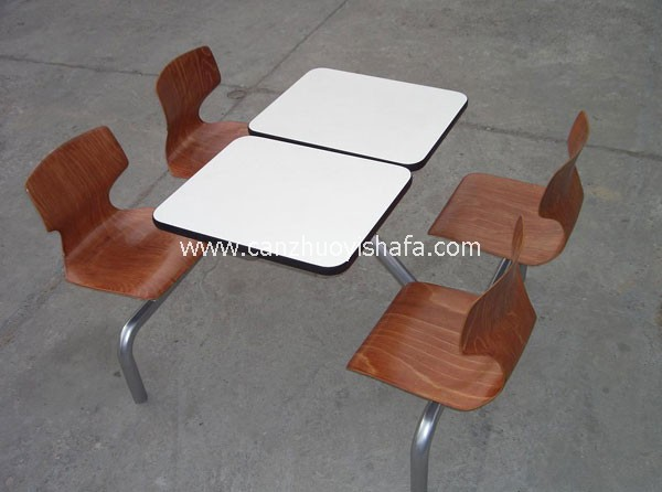 麦当劳餐厅桌椅-T1513
