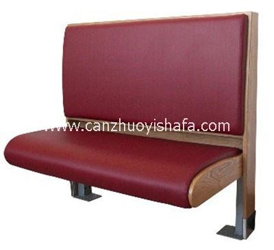 麦当劳餐厅卡座沙发-T1533